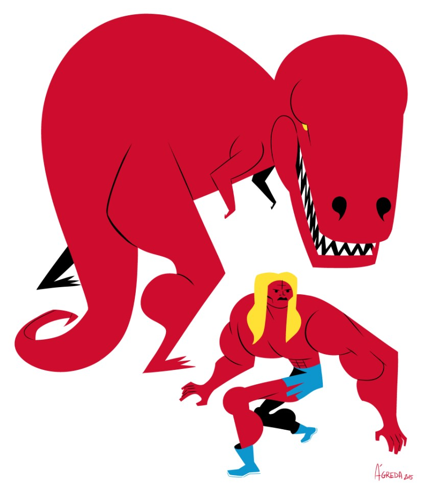 Devil Dinosaur and Kamandi