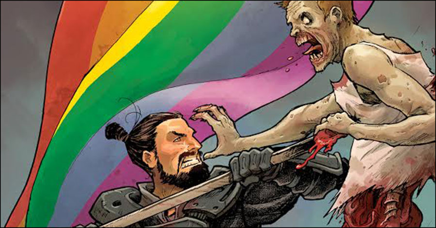 Image to donate June variant cover proceeds to Human Rights Campaign