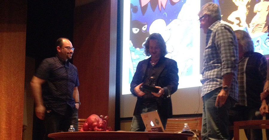 Cartoon Art Museum presents Jeff Smith with the Sparky Award