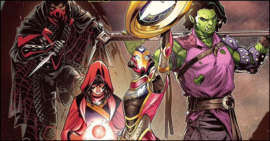 'The Champions' head for Weirdworld in issue #25