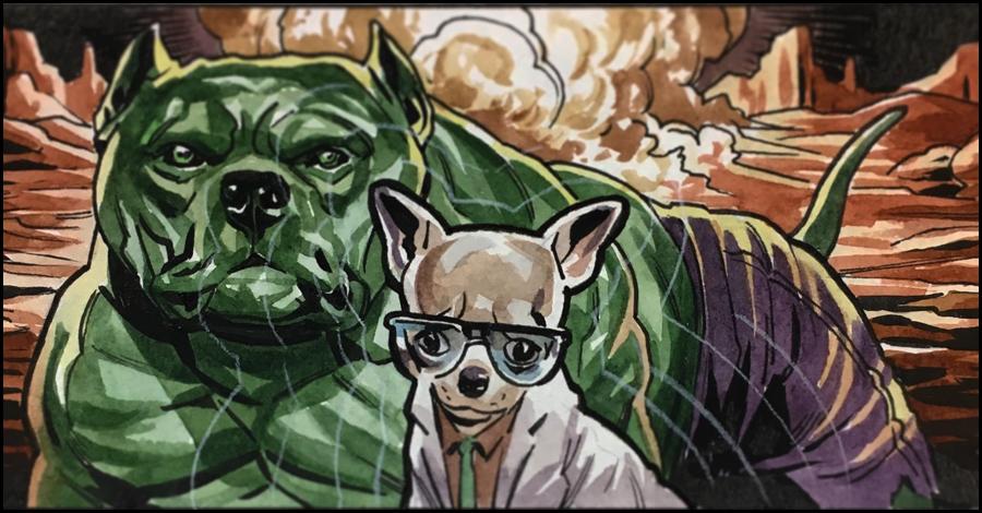 Inktober Spotlight: Benjamin Dewey's super-pets