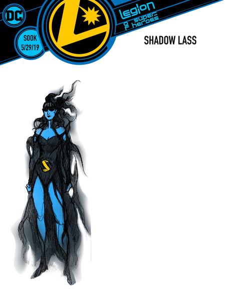Legion of Super-Heroes Shadow Lass cover by Ryan Sook