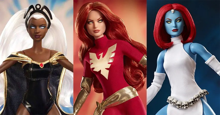 Mattel announces Storm, Dark Phoenix, and Mystique X-Men Barbie Dolls