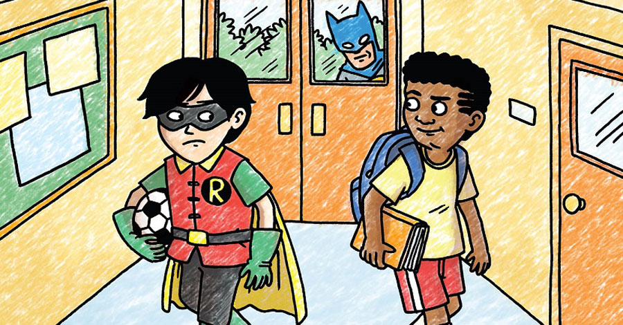 Jeffrey Brown sends Damian Wayne to middle school in 'Batman and Robin and Howard'