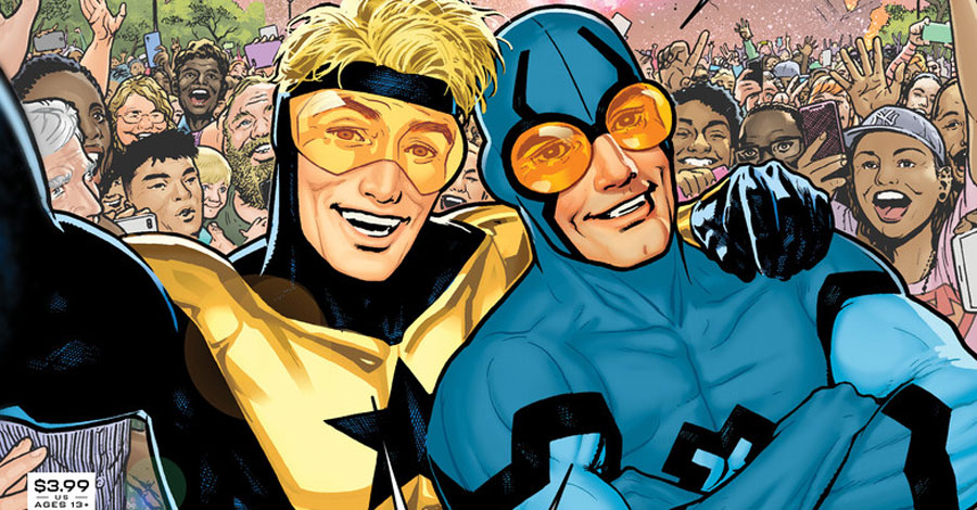 #Bwahaha: Blue Beetle + Booster Gold take on social media in new miniseries