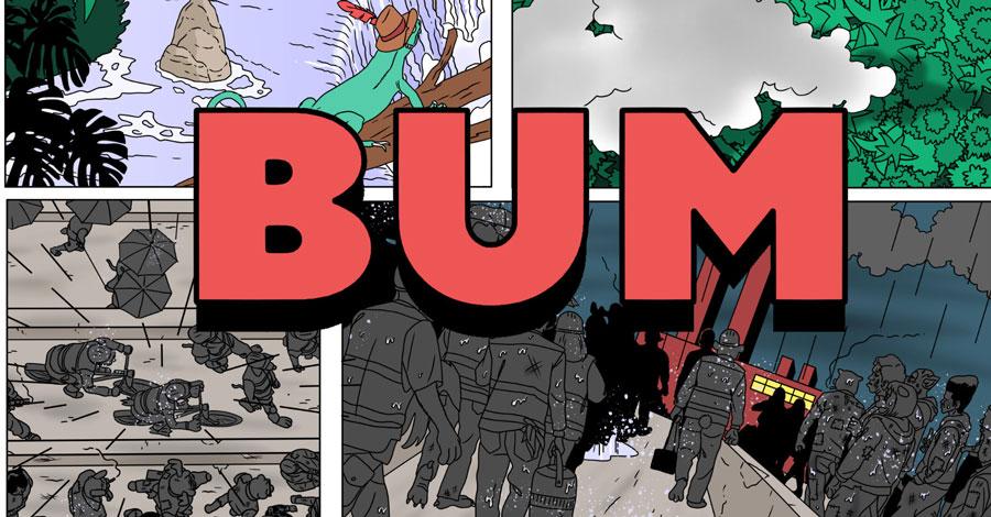 Floating World Comics will publish E.S. Glenn's 'Unsmooth 2: BUM' this fall