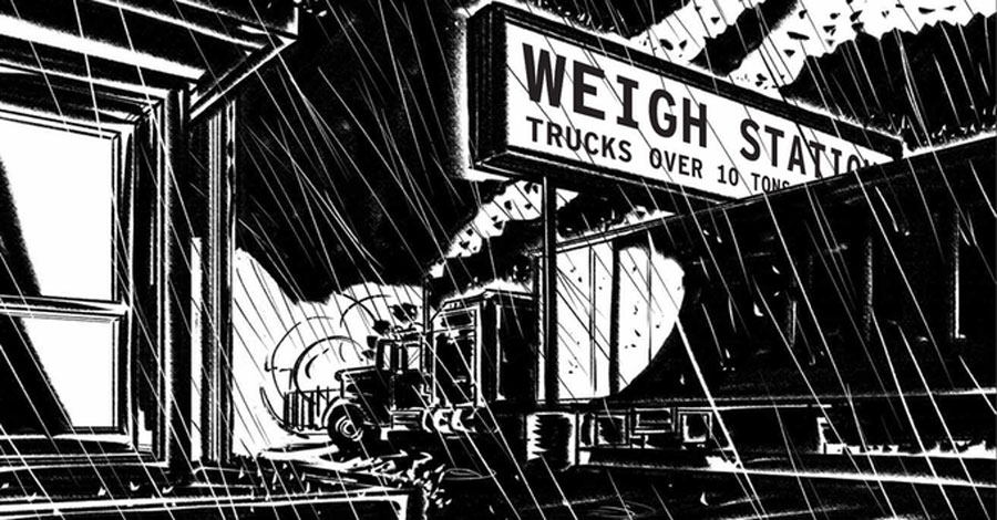 A truck driver faces his criminal past in 'Fog Line'