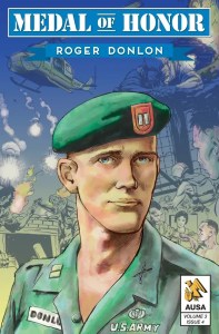 Cover of Medal of Honor: Roger Donlon, showing the head and shoulders of Roger Donlon in uniform.