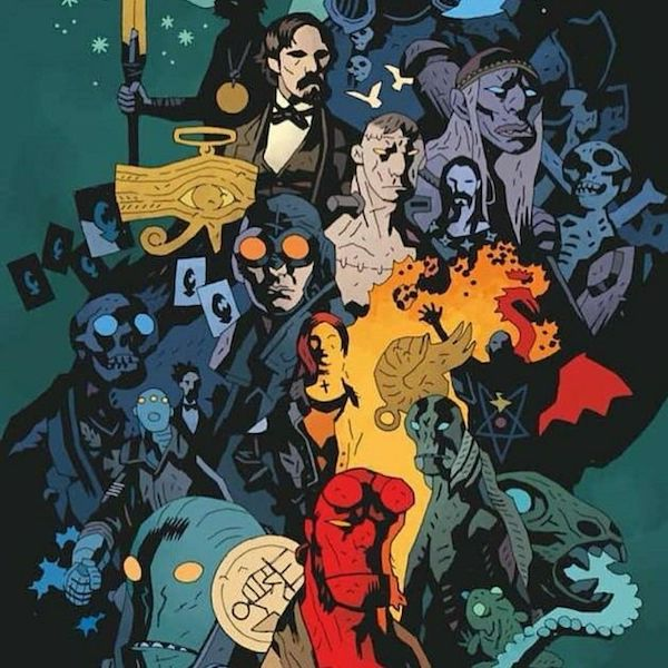 Decorative image of Mike Mignola characters
