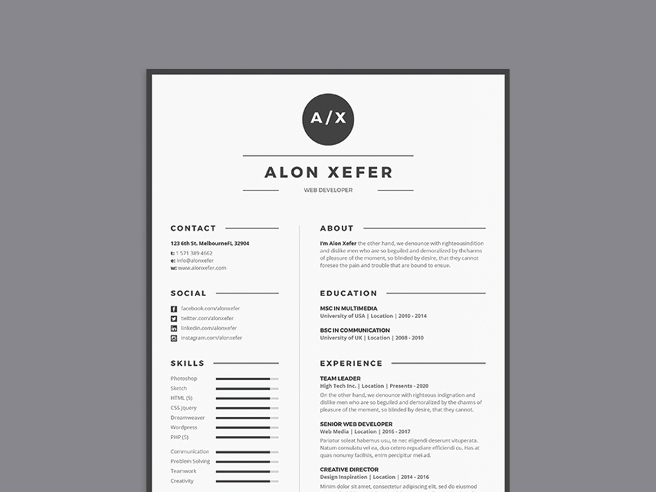 Free Modern Elegant Resume Template In Multiple File Format PSD AI DOC EPS This Come With Design And Very Easy To Use