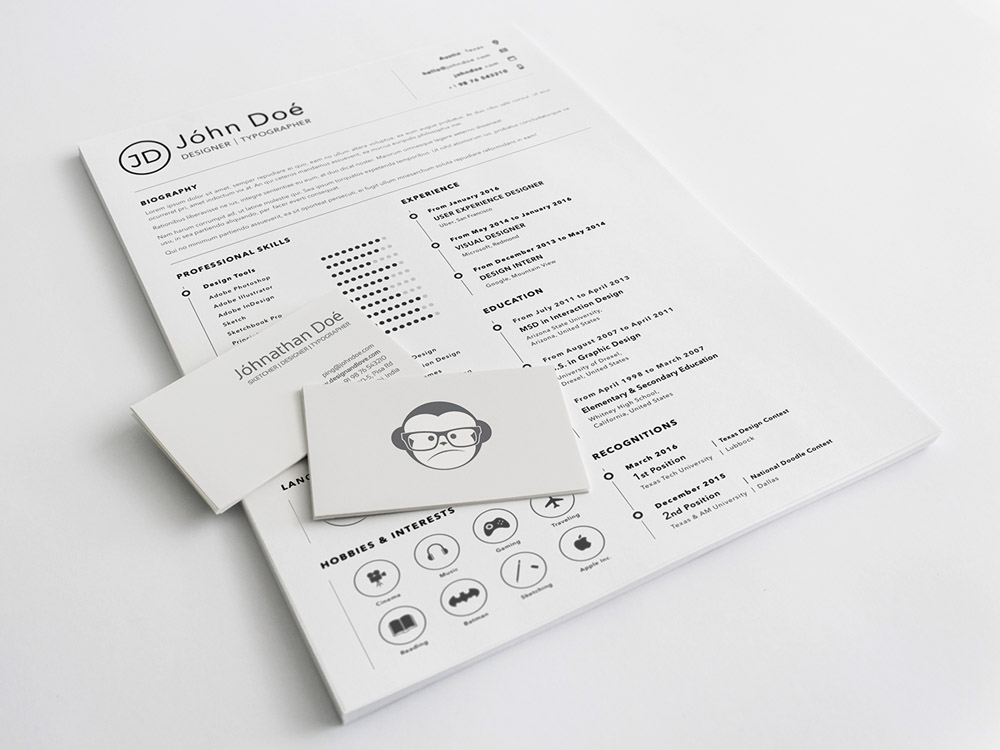 Free Clean Sketch Resume