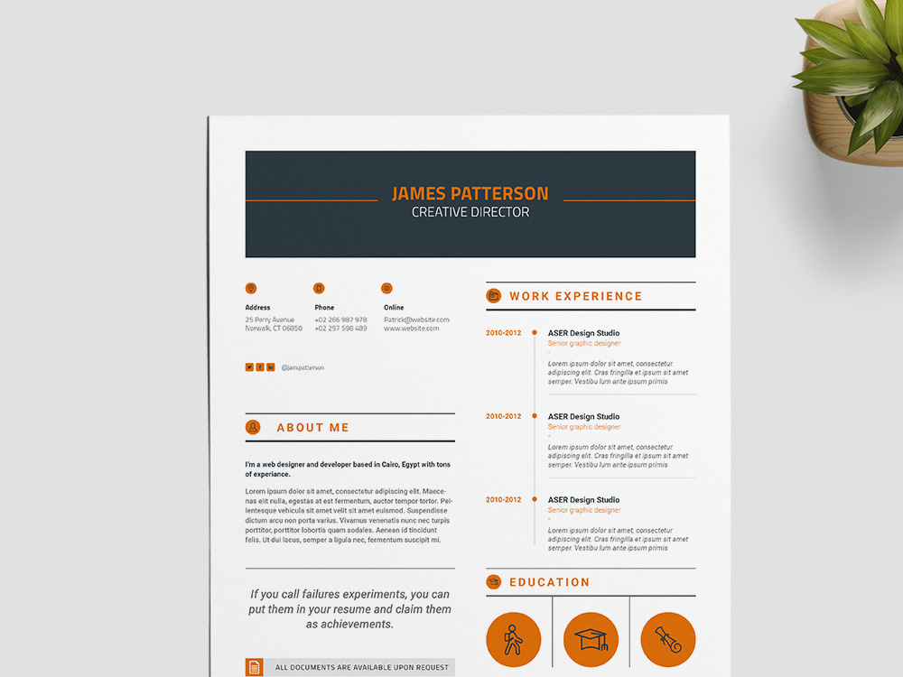 Free Creative Indesign Resume Template for Best Impression Here is a free creative InDesign resume template for best impression  You  can use this template for present your professional profile with clean and  elegant
