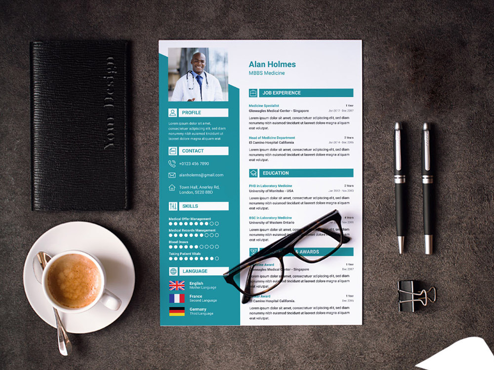 Free Doctor Resume Template with Cover Letter