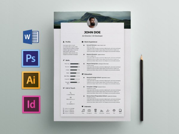 Free Elegant Resume / CV Template for Any Job Opportunity
