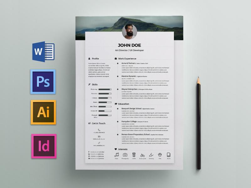 Free Elegant Resume / CV Template for Any Job Opportunity