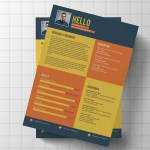 Flat Colorful Resume