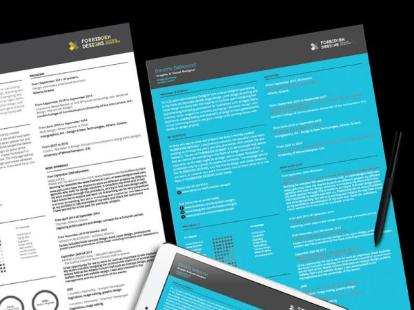Free Resume Template with Icon Set