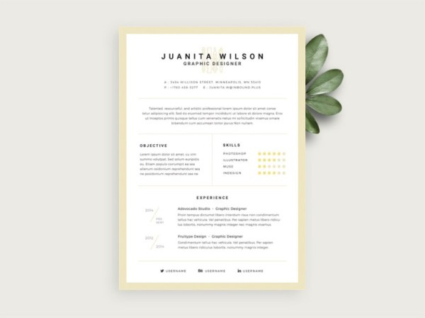 Free Elegant Resume Template with Stylish Design
