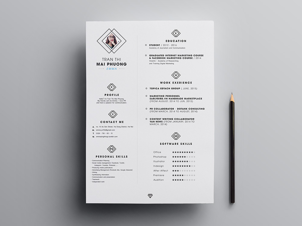 Free Minimal Resume Template with Elegant Feel