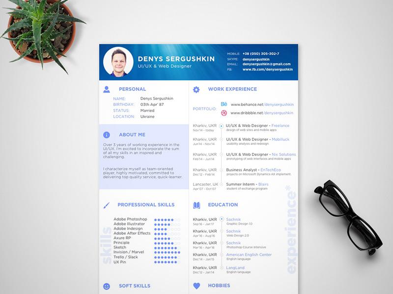 Free Modern Sketch Resume Template