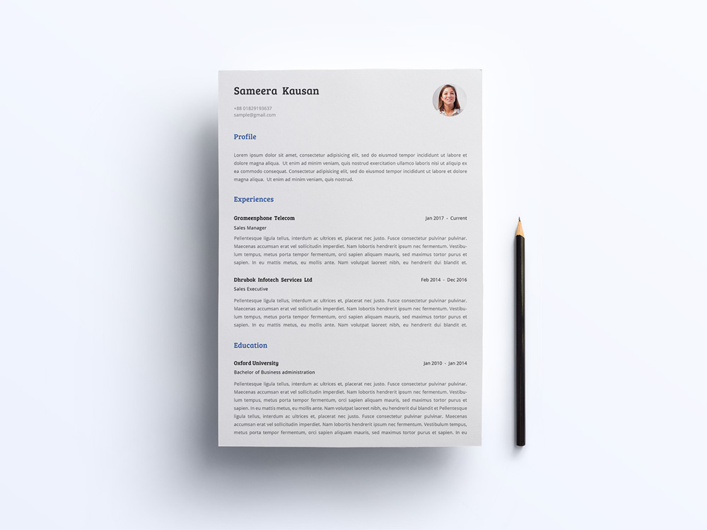 Simple Resume and Cover Letter - Smashresume