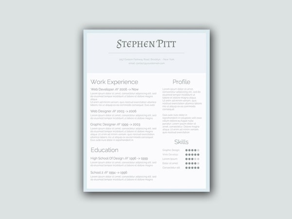 Free Simplified Word Resume with Clean Design