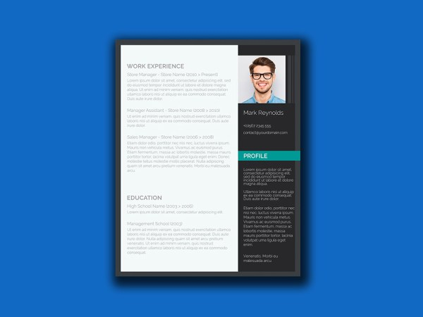 Free Resume Template with Ultra Modern Design