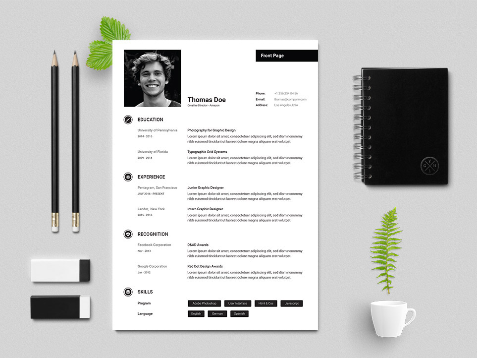 Free Creative Director Resume Template