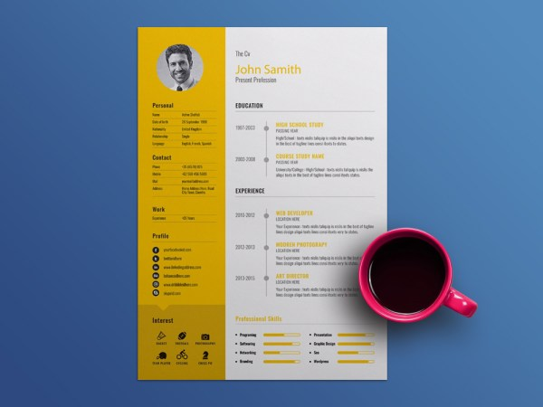 Free Manager Resume Template with Cover Letter
