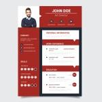 Modern Red Resume