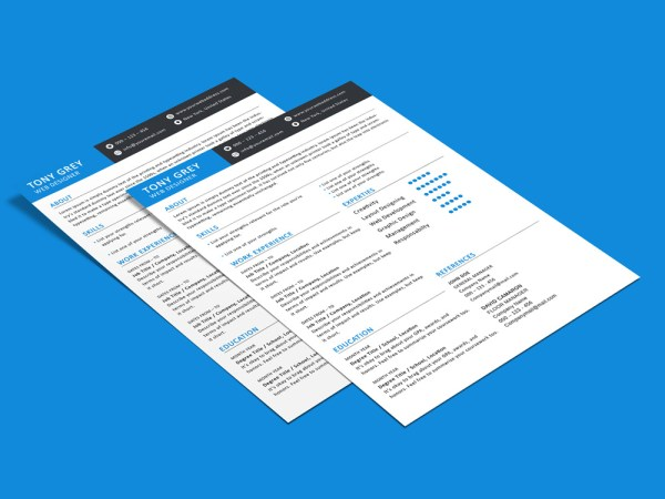 Grey Resume - Free Modern Resume Template for Great Impression