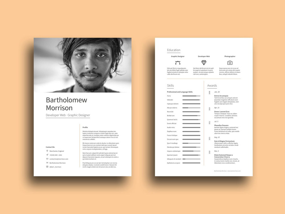 Free Designer Resume Template with Impressive Design