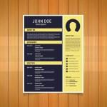 Yellow Flat Resume