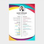 Colorful Two column Resume