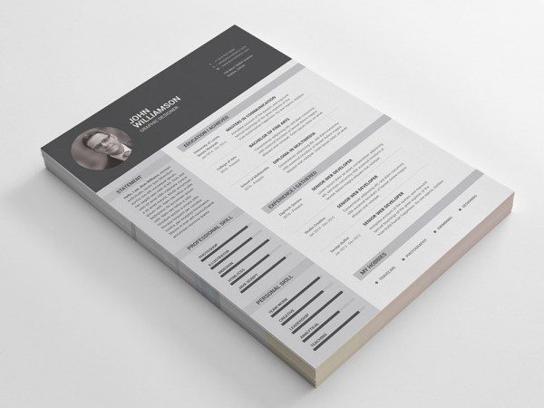 Free Resume Template with Clean and Classic Design