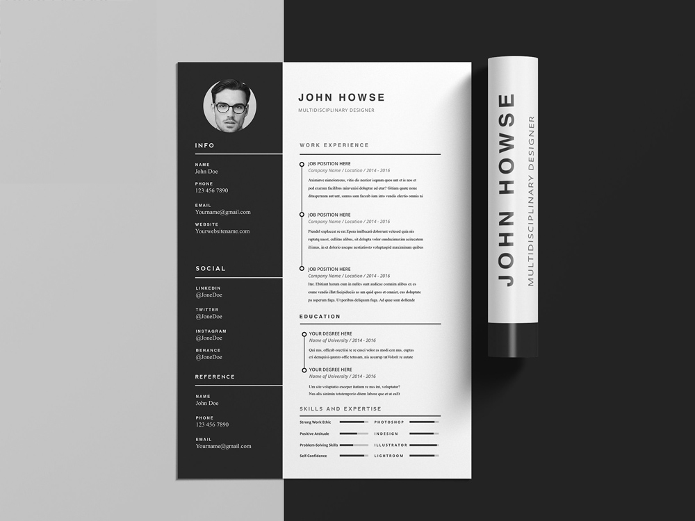 Howse CV Template - Free Clean CV Template with Cover Letter