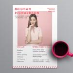 Bright Pink Resume