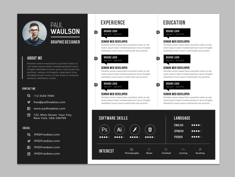 Creative-Horizontal-CV-Resume-Template-PSD Teal Resume Format on what best, sample functional, templates free, for tech students, job apply, ojt sample, for doctors, mba freshers,