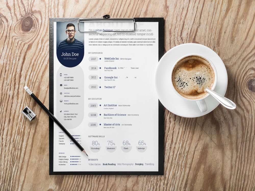 Free Creative Resume Template with Professional Look