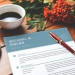Teal Header Resume
