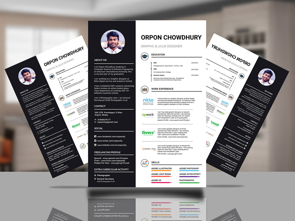 Here Is Free Infographic Resume Template In Illustrator Format For Job Seeker Come With Style Design It Will Help You Make A Maximal