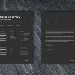 Elegant Black CV