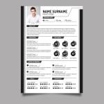 Modern Black White CV