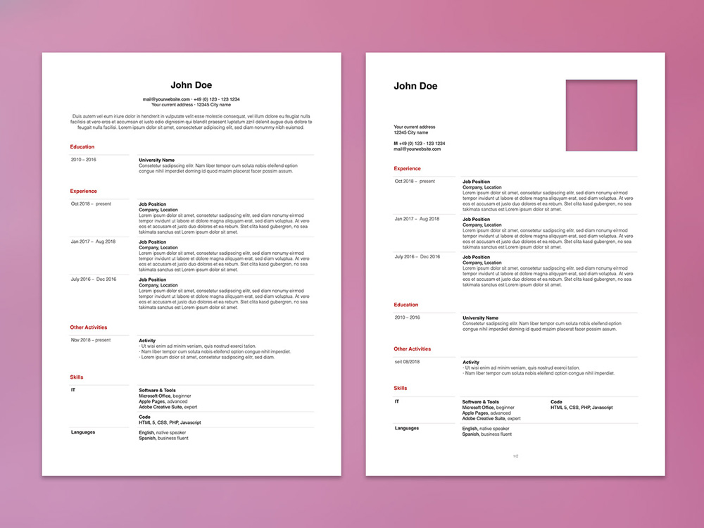 Html5 Resume Template Free from i2.wp.com