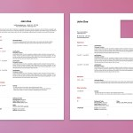 Apple Pages Resume