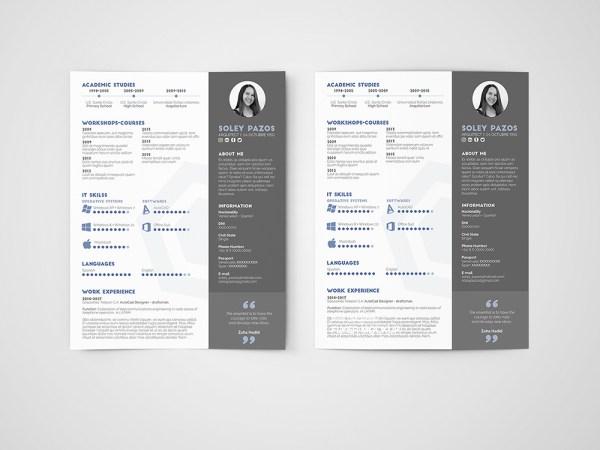 Free Architect Resume Curriculum Vitae Templates