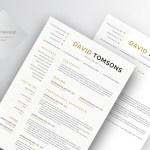 David Tomsons Resume