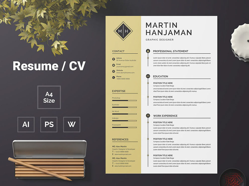 free student cv template with matching cover letter
