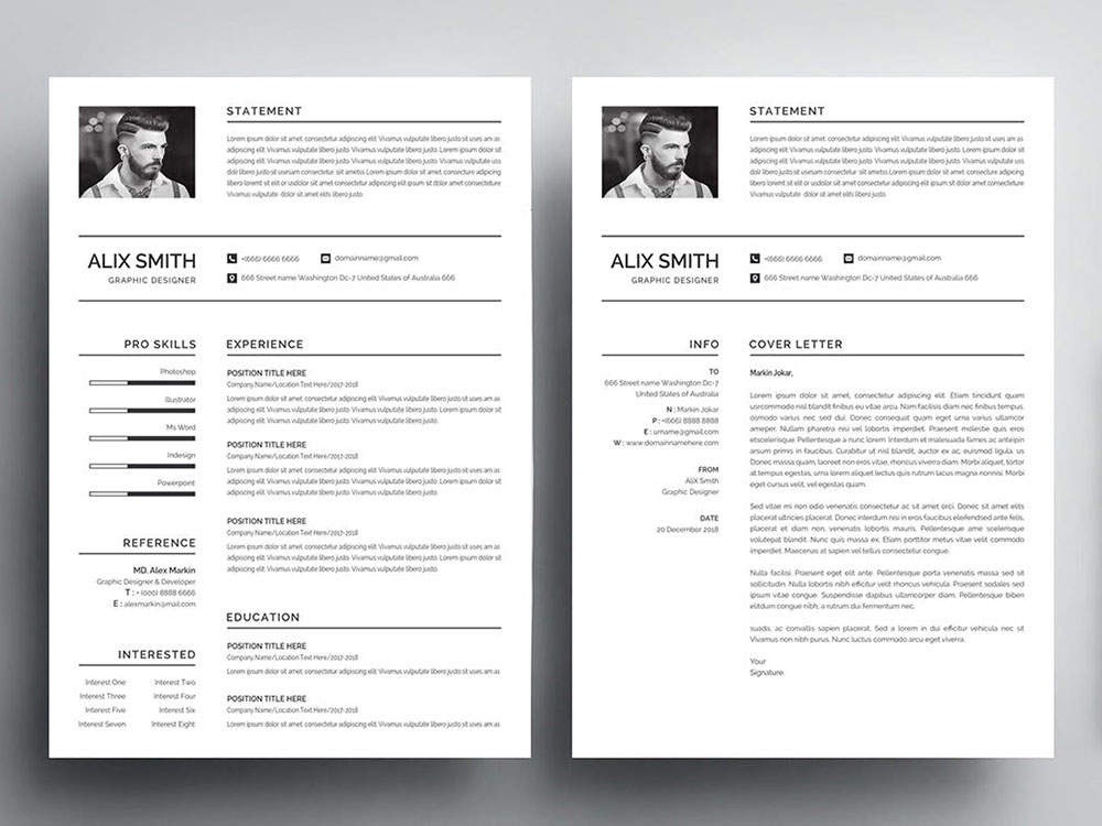 free graduate student resume template with simple and