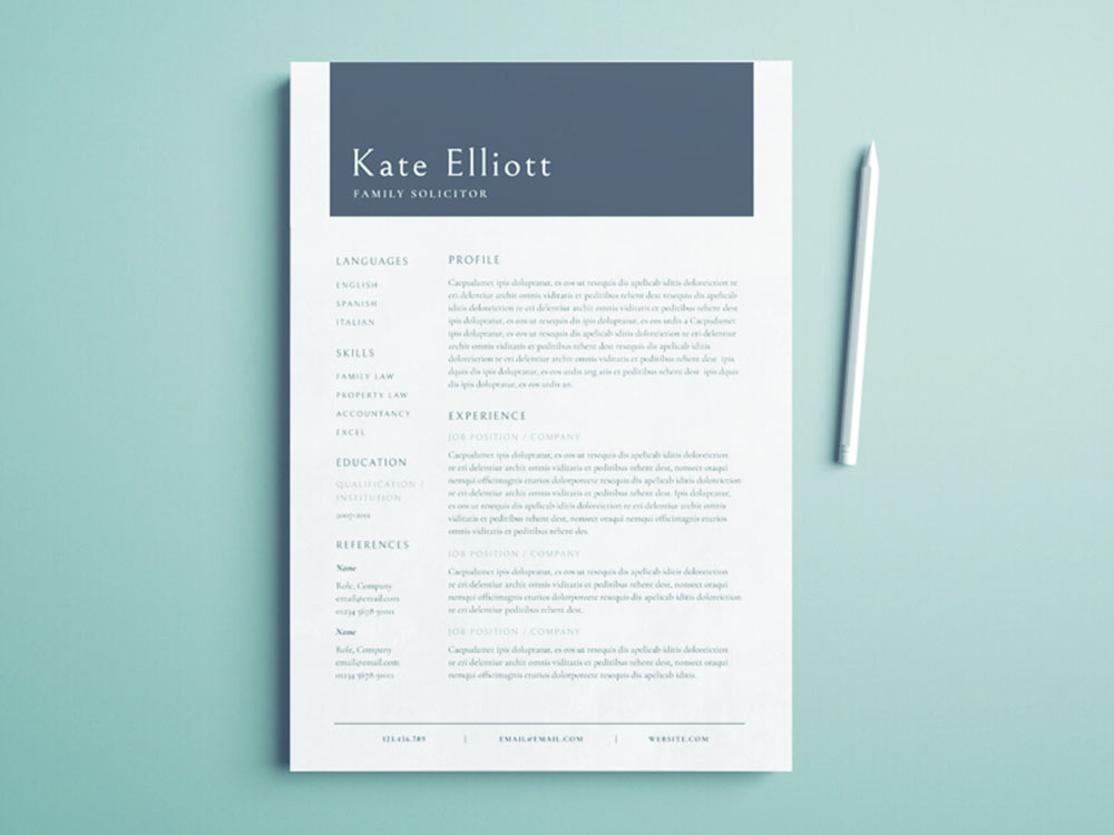 Free Family Solicitor Resume Template